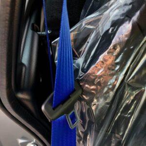Aixam City GTO acier mat gris mat abbvsp détail de la ceinture